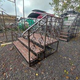 Лестницы и элементы лестниц - Металлические лестницы уличные с перилами, 0