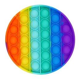 Игрушки-антистресс - Бесконечная пупырка радужный круг, 0
