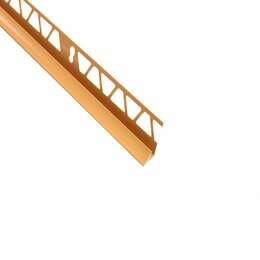 Отделочный профиль, уголки - угол внутренний для плитки 9-10 мм х 2,5 м кремовый тп10013038, 0