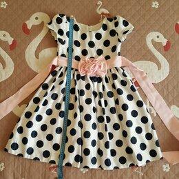 Платья и сарафаны - Детское нарядное праздничное платье в горошек , 0