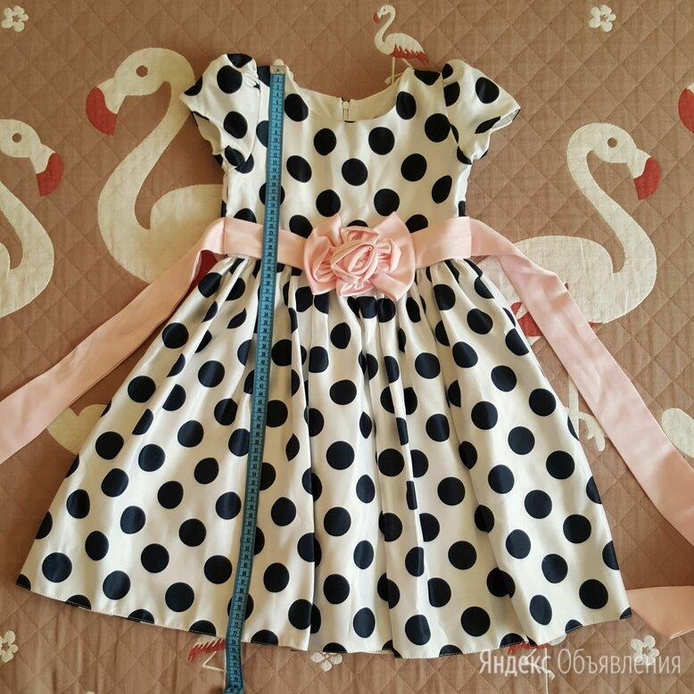 Детское нарядное праздничное платье в горошек  по цене 500₽ - Платья и сарафаны, фото 0