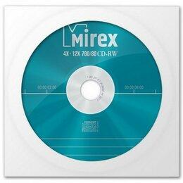 Видеофильмы - К/д Mirex CD-RW80/700MB 12x в бумажном конверте с окном (цена за диск), 0