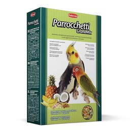 Корма - Padovan Корм GRANDMIX Parrocchetti комплексный/основной  для средних попугаев..., 0