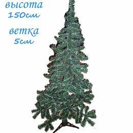 Ёлки искусственные - Искусственная елка зелёная с белым 150см 5см, 0