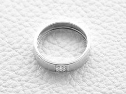 Кольца и перстни - Обручальное кольцо с 9 бриллиантами из белого золота, 0