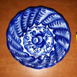 Декоративная посуда - Гжель, Тарелка, СССР, Клеймо 2, 0