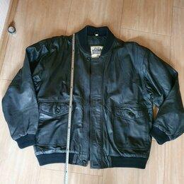 """Куртки - Куртка натуральная кожа """"бомбер"""" р 50-52 / 176 см, 0"""