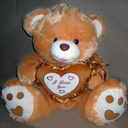 Коляски - Мишка с сердцем I love you рыжий 5942, 0