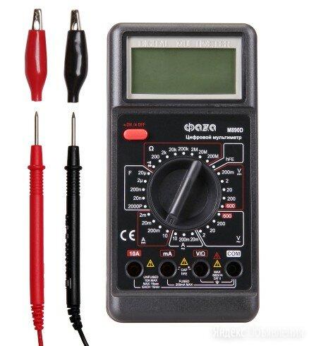 Мультиметр цифровой M890D полная базовая модель ФАZА по цене 1108₽ - Измерительные инструменты и приборы, фото 0