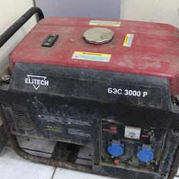 Электрогенераторы и станции - Бензиновая электростанция ELITECH БЭС 3000 P, 0