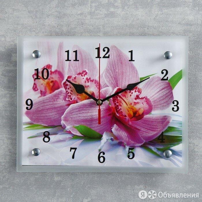 """Часы настенные, серия: Цветы, """"Орхидея"""", 20х25  см, микс по цене 570₽ - Часы настенные, фото 0"""