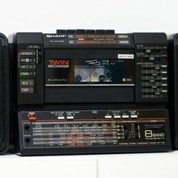 Музыкальные центры,  магнитофоны, магнитолы - Магнитола Sharp WF-T738 TWIN, 0