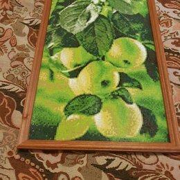 Картины, постеры, гобелены, панно - Алмазная мозаика зеленые яблоки, 0