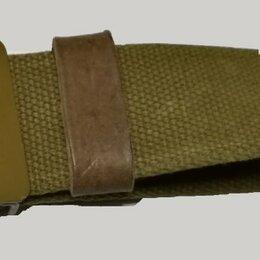 Ремни и подтяжки - Солдатский ремень полевой брезент с металлической пряжкой МЛ-рем3, 0