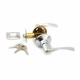 Защелки и завертки - Защелка ручка хром ключ фикс 8901 ЕТ CP Стандарт, 0