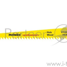 Полотна и пильные ленты - Полотно для сабельной пилы Metabo 631120000  S644d 2шт. Hcs 150x1.25/4.0мм де..., 0