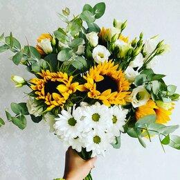 Цветы, букеты, композиции - Букеты с подсолнухом и хризантемой , 0