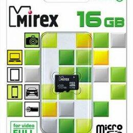 Карты памяти - КАРТА ПАМЯТИ  MIREX microSDHC 16GB CLASS10, 0