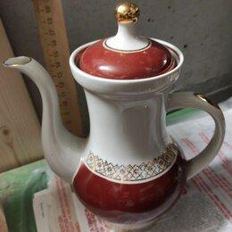 Посуда - фарфоровый кофейник, фарфор Дулево, 0