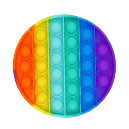 Игрушки-антистресс -  POP IT Игрушка-антистресс КРУГ большой (цветной), 0