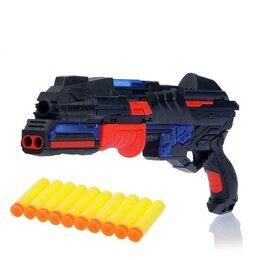 Игрушечное оружие и бластеры - Бластер - Разрушитель, стреляет мягкими пулями, световые и звуковые эффекты, 0