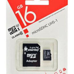 Карты памяти - Карта памяти 16 Gb Smartbuy Class 10 с адаптером, 0
