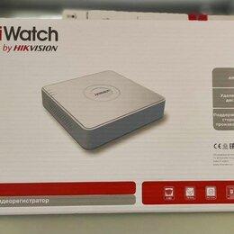 Видеорегистраторы - IP видеорегистратор с 4 PoE Hiwatch DS-N204P(B), 0
