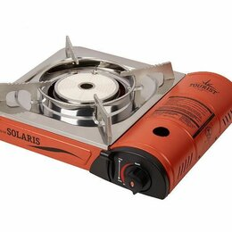 Туристические горелки и плитки - Портативная газовая плита Solaris TS-700 (керамическая конфорка), 0