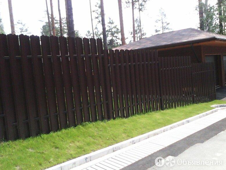Забор из евроштакетника по цене 80₽ - Заборы, ворота и элементы, фото 0