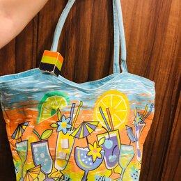 Сумки - Летние пляжные сумки из ткани, 0