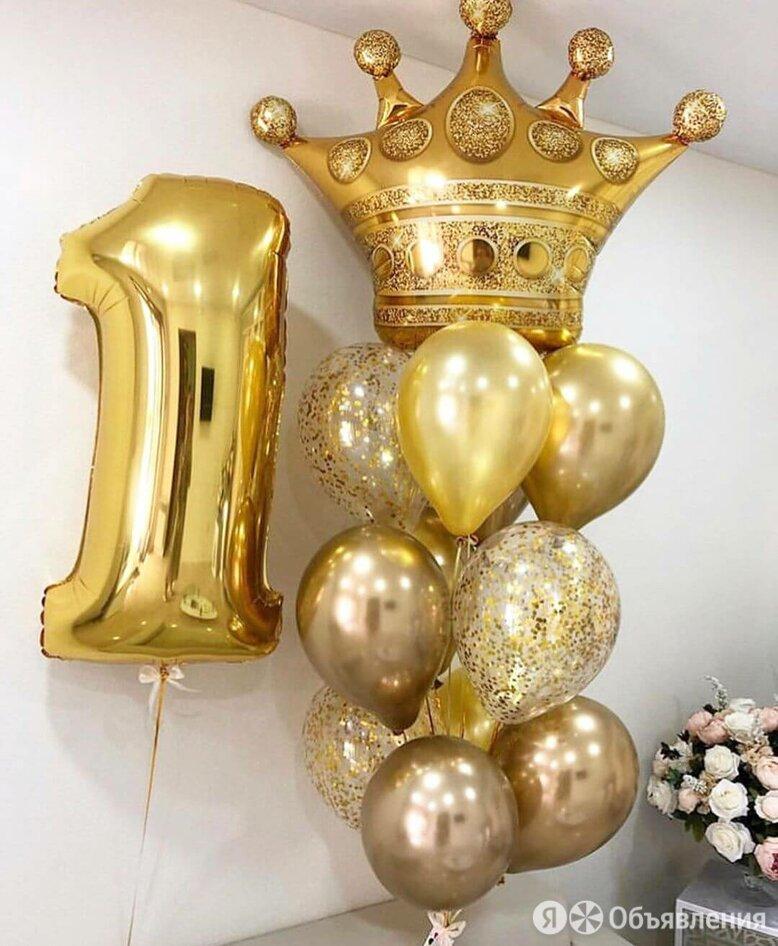 Букет Корона + Цифра. по цене 2630₽ - Воздушные шары, фото 0