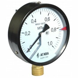 Электронные и пневматические датчики - АДМ-100 манометр (преобразователь давления) с токовым и цифровым выходами, 0