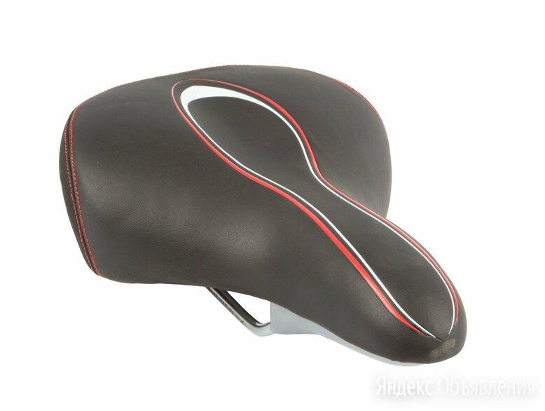 Седло велосипедное VELO VL-6217, комфорт, эластомерное, 267х200мм, черное, 6-1 по цене 2504₽ - Защита и экипировка, фото 0