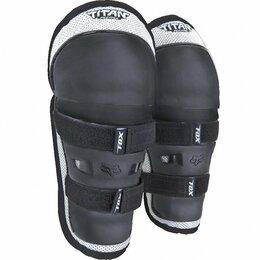 Спортивная защита - Наколенники детские Fox Titan Knee/Shin Kids Guard, черно-серебристый, 08037-4, 0