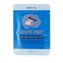 Маски - Маска тканевая с экстрактом ласточкиного гнезда FarmStay VISIBLE DIFFERENCE ..., 0