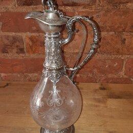 Кувшины и графины - Графин. Серебро 800 проба. 19 век. Великобритания. Клеймо : J.W  , 0