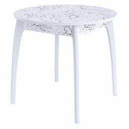 Столы и столики - Кухонный стол - Стол DikLine №46 ДН белый,мрамор 3028 (вариант 2), 0