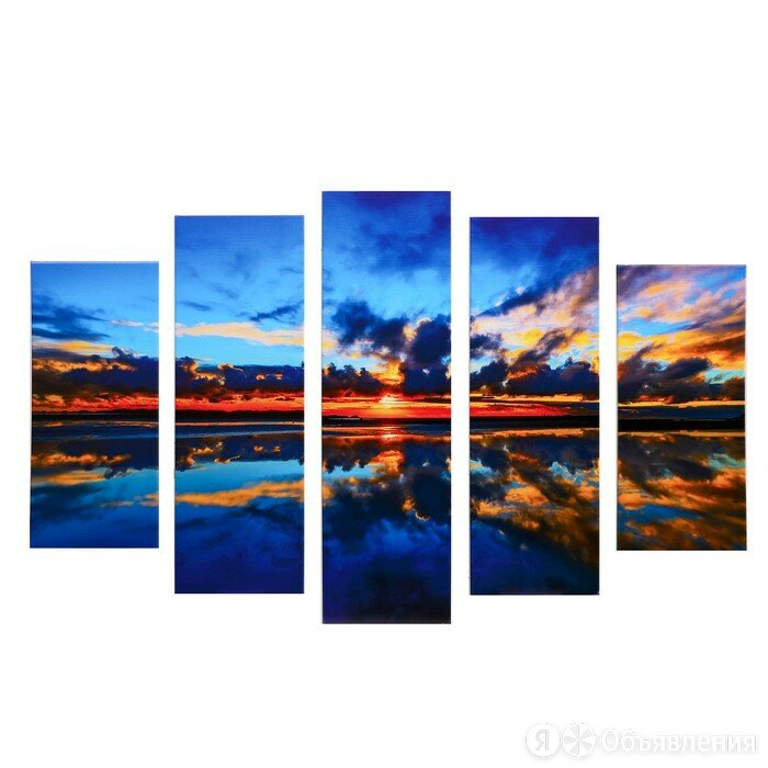 Модульная картина 'Закат' (2-23х52 2-24х70 1-24х80) 120х80см по цене 1904₽ - Сувениры, фото 0