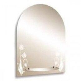 Зеркала - Серебрянные зеркала Зеркало настенное Серебрянные зеркала Букет 495х670 с полкой, 0
