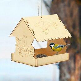 Игрушки и декор  - Кормушка для птиц «Птичка на ветке», 22 × 20 × 22 см, Greengo, 0