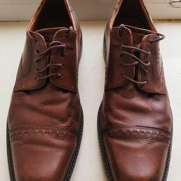 Туфли - Коричневые мужские туфли ECCO, 46 размер, 0