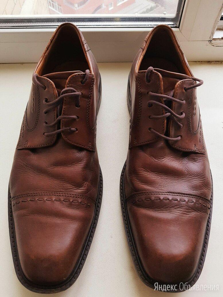 Коричневые мужские туфли ECCO, 46 размер по цене 2990₽ - Туфли, фото 0
