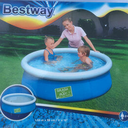 Бассейны -  Бассейн надувной Bestway Splash круглый 152x38см,голубой, от 3 лет), 0