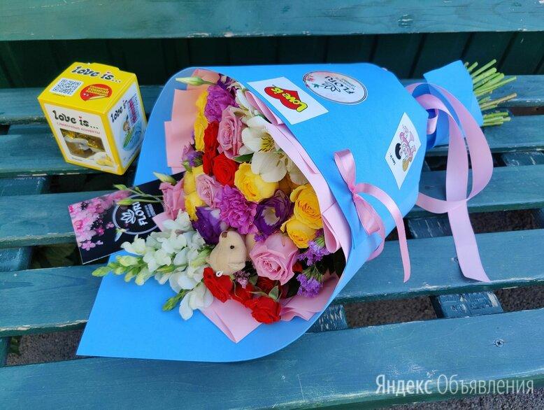 """Стильный букет  """"Love is..."""" по цене 2500₽ - Цветы, букеты, композиции, фото 0"""