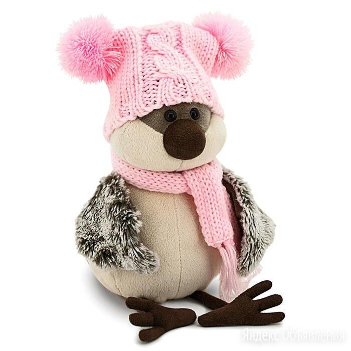 Мягкая игрушка 'Воробей' в весёлой шапке, 20 см по цене 1608₽ - Мягкие игрушки, фото 0