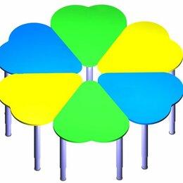 Столы - Стол «Ромашка» (6 частей) на регулируемых ножках (в цвете), 0