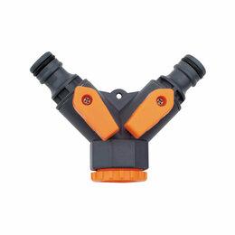 Пистолеты, насадки, дождеватели - Belamos Разветвитель на кран двухканальный 5002, 0