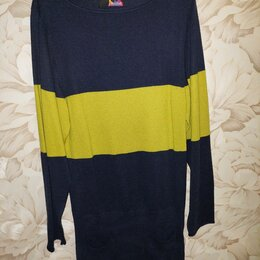 Платья - Платье / туника женское. Темно-синее с зелёной полосой. р. 44-46, 0