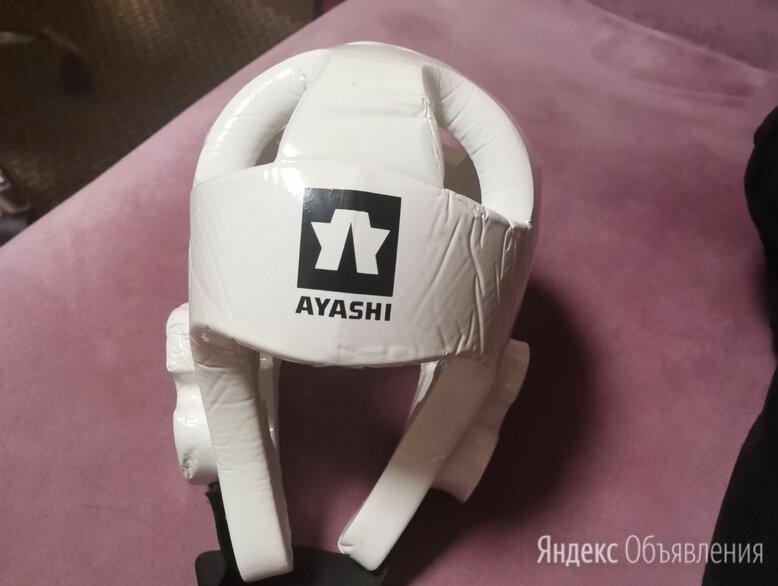 Шлем  AYASHI  для тхэквондо белый  по цене 2000₽ - Спортивная защита, фото 0
