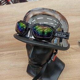 Шлемы - Немецкий мотошлем с очками, 0